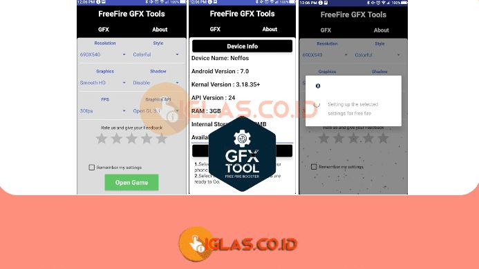 GFX Tool Free Fire Apk & Cara Setting GFX Tool FF Booster di Android