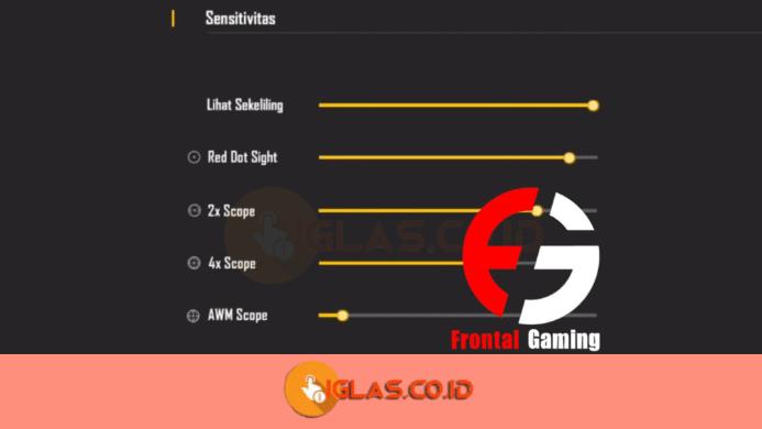 Settingan Sensitivitas FF Terbaik 2021 Ala Pro Player Frontal Gaming
