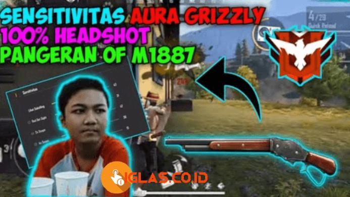 Grizzly FF - ID Nickname Aura Grizzly FF & Sensitivitas Headshot 100% !