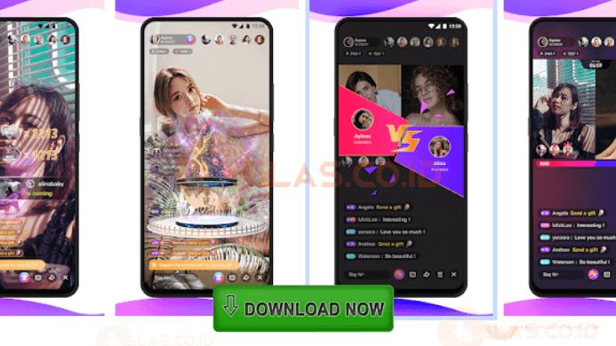 Download Mango Live Mod Apk Ungu v3.3.7 Unlock All Room + VIP