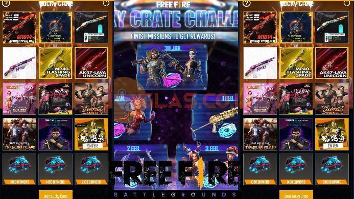Lucky Crate Free Fire (FF) Gratis 2021 Claim Bundle & Skin Senjata Gratis