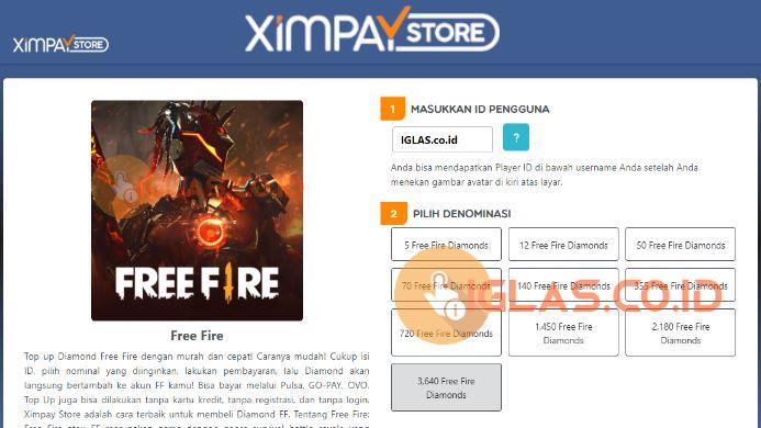 Ximpay FF Jasa Top Up Diamond Free Fire Termurah di Store.Ximpay.com
