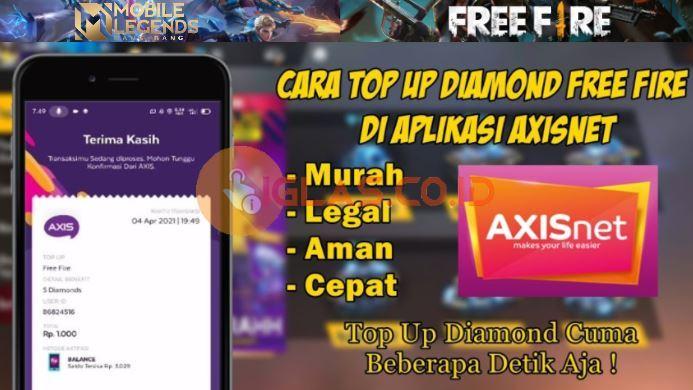 Axisnet Top Up Diamond ML & FF Paling Murah dan Terjangkau 2021 !