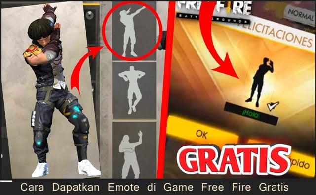 Cara dapatkan emote di game Free Fire