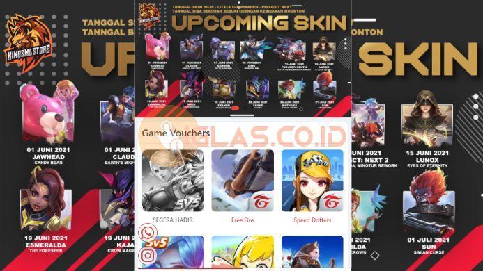 Kingsmlstore com Top Up Diamond ML, FF & UC PUBG Mobile Termurah !