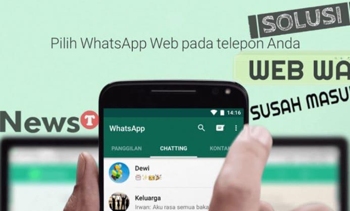 Cara Mengatasi WhatsApp Web Error
