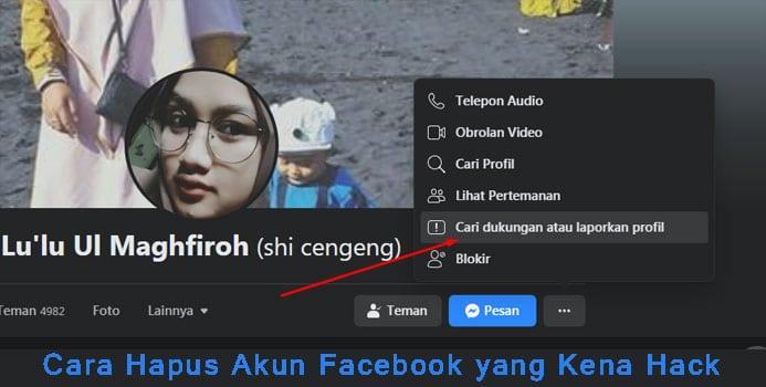 Cara Hapus Akun Facebook yang Kena Hack