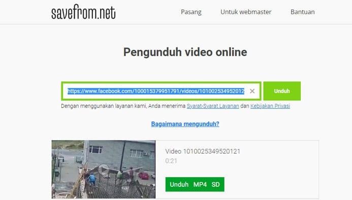 Download Video di Facebook Tanpa Aplikasi
